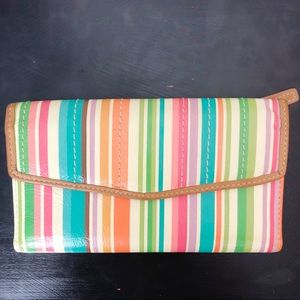 Fossil | Leather Striped Trifold Wallet